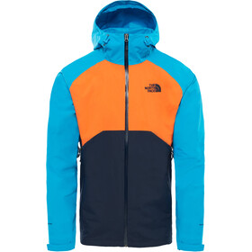 The North Face Stratos Jas Heren oranje/blauw
